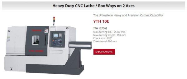 HANNSA - CNC Lathes - YTH 10E
