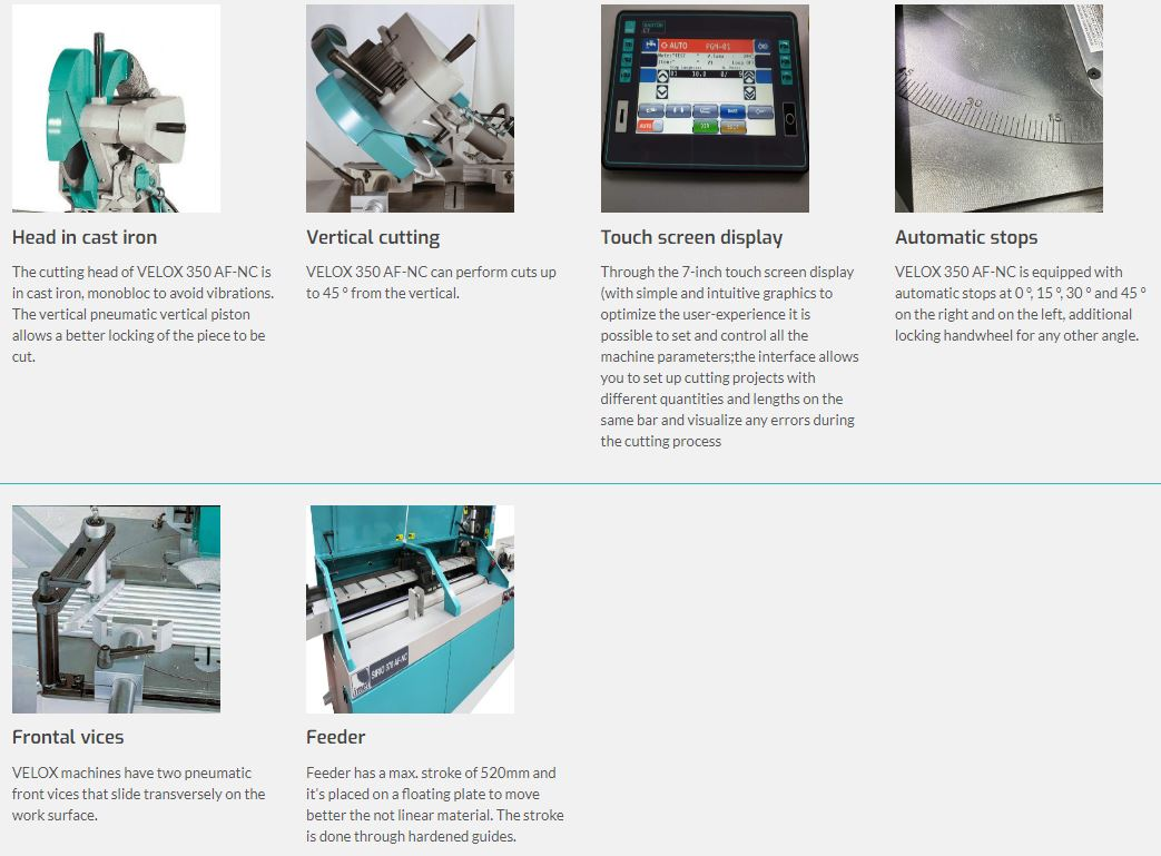 IMET - VELOX 350 AF-NC - CNC automatic circular machine for aluminium