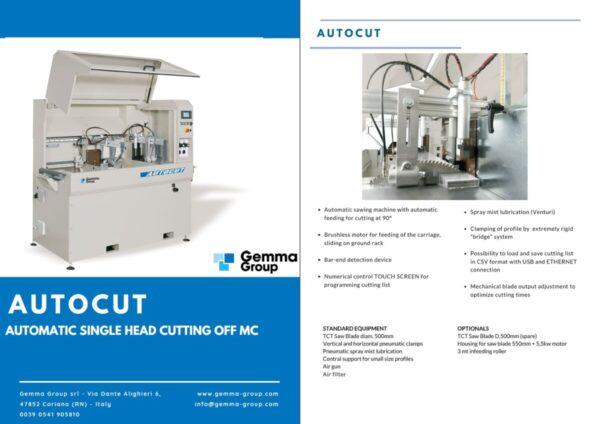 GEMMA - Autocut - Automatic single head cutting