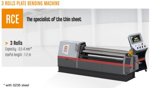 PICOT – Type RCE – 3 Rolls Plate Bending Machine