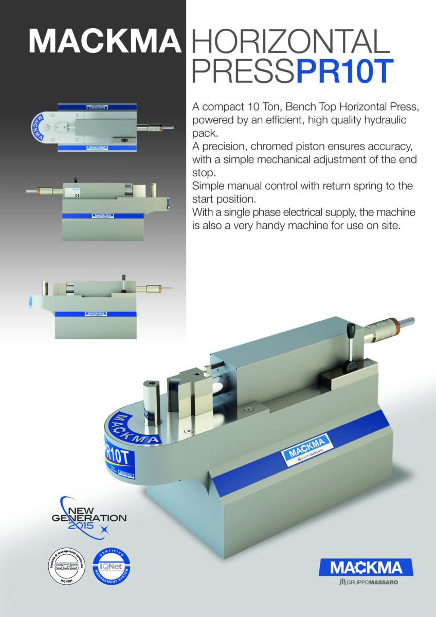 MACKMA - PR10T Horizontal Hydraulic Press