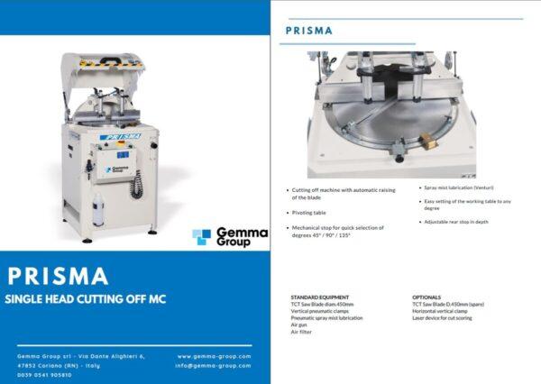GEMMA - Prisma - Automatic single head cutting