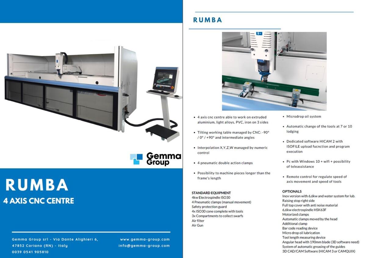 GEMMA - Rumba - CNC Machining Centre