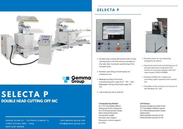GEMMA - Selecta P - Double Head Cutting Machine